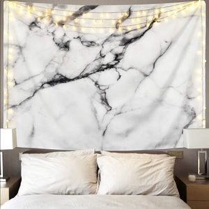 Black and White Marble Wall Hanging Tapestry